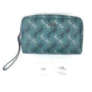 NEW Coach Horse & Carriage Boxy Cosmetic Case